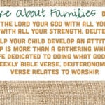 Week of October 21 – Moses Spoke About Families – Social Media Plan