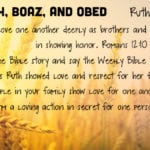 Week of October 28 – Ruth, Boaz, and Obed – Social Media Plan
