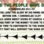 Week of November 11 – Joash and the People Gave Offerings – Social Media Plan
