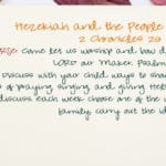 Week of November 18 – Hezekiah and the People Worshiped – Social Media Plan