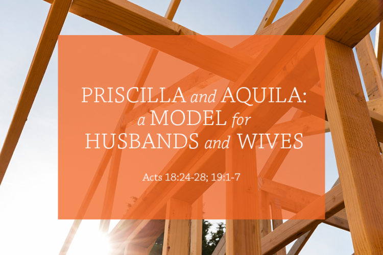 Priscilla and Aquila: A Model for Husbands and Wives (Session 9 – Acts 18:24-28; 19:1-7)