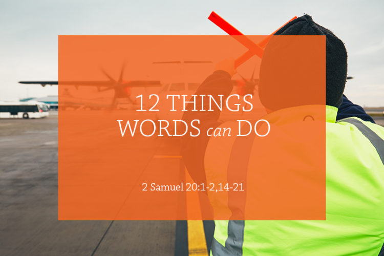 12 Things Words Can Do (Session 10 – 2 Samuel 20:1-2,14-21)