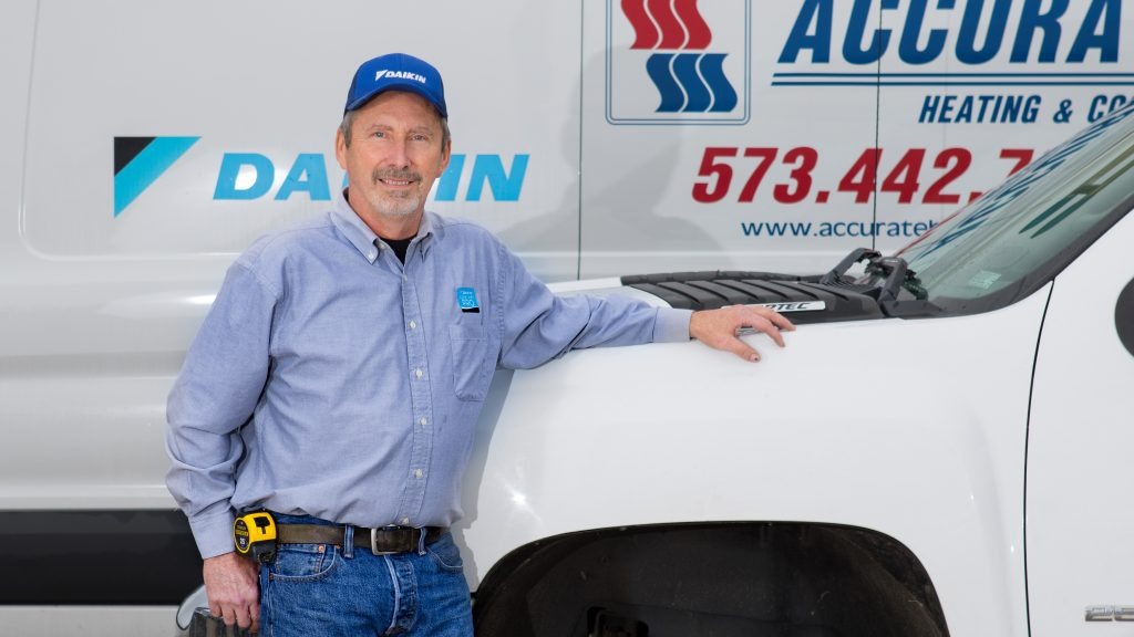 Accurate Heating & Cooling was founded by Clarence Woodard with the mission of providing affordable, yet quality heating and cooling services in mid-Missouri.