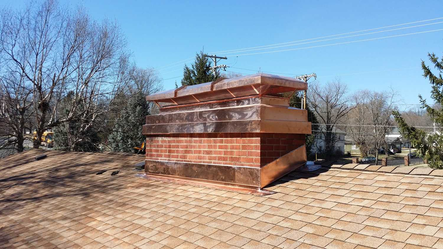 Custom Chimney caps by Accurate Heating & Cooling in Columbia, Mo. Call today for an estimate!