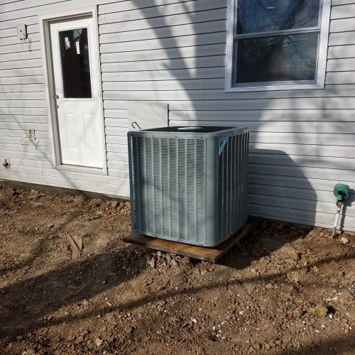 Air conditioning unit placed outside of a home