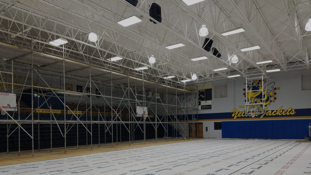 High School gym painting