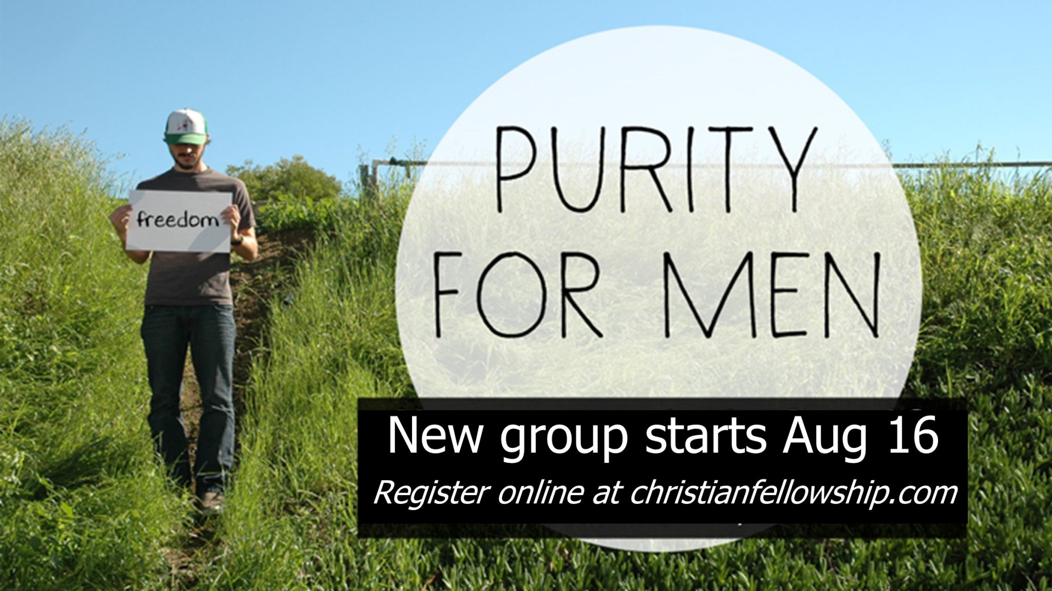 Purity for Men Group begins Aug 16
