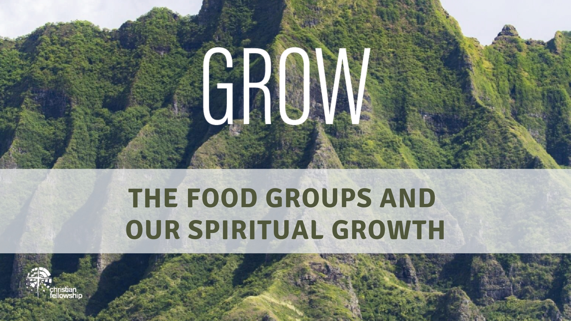 The food groups and our spiritual growth