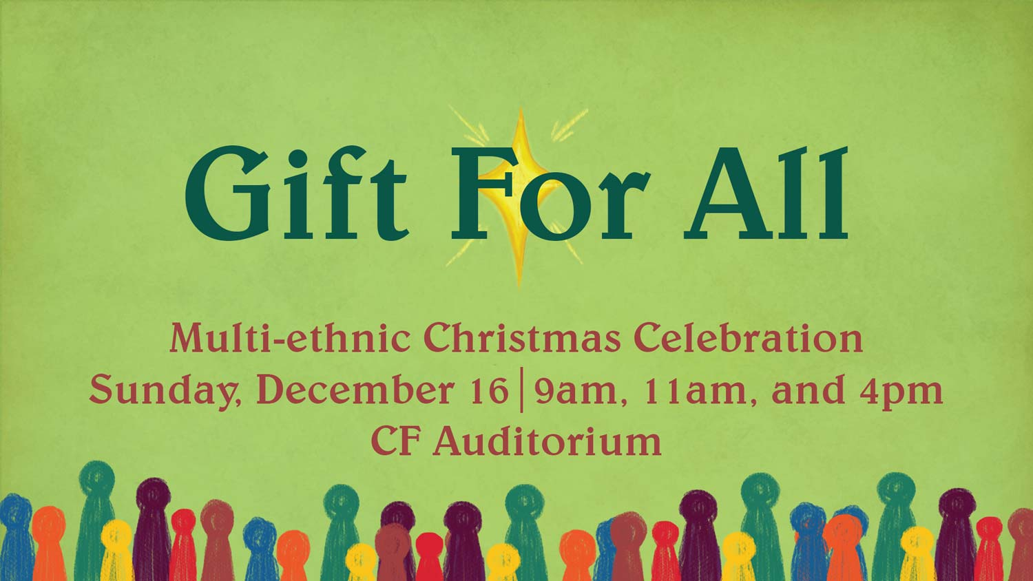 Gift For All Christmas Celebration at Christian Fellowship Church in Columbia Mo on December 16