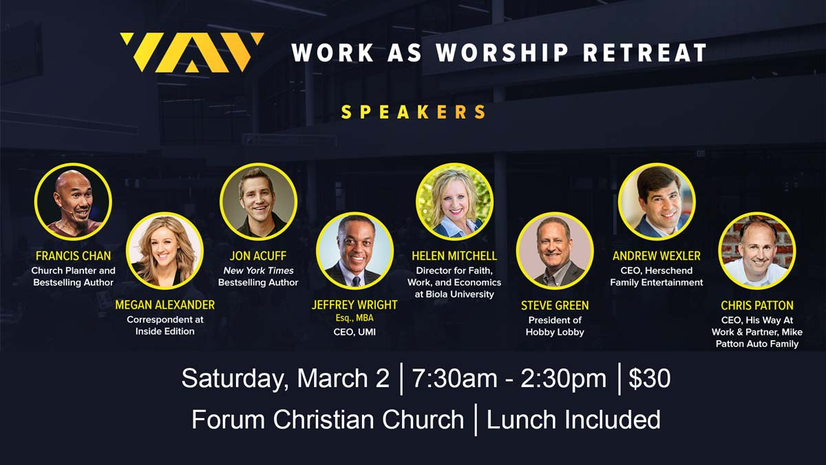 2019 Work as Worship Retreat hosted by Forum Christian and Christian Fellowship churches in Columbia Mo