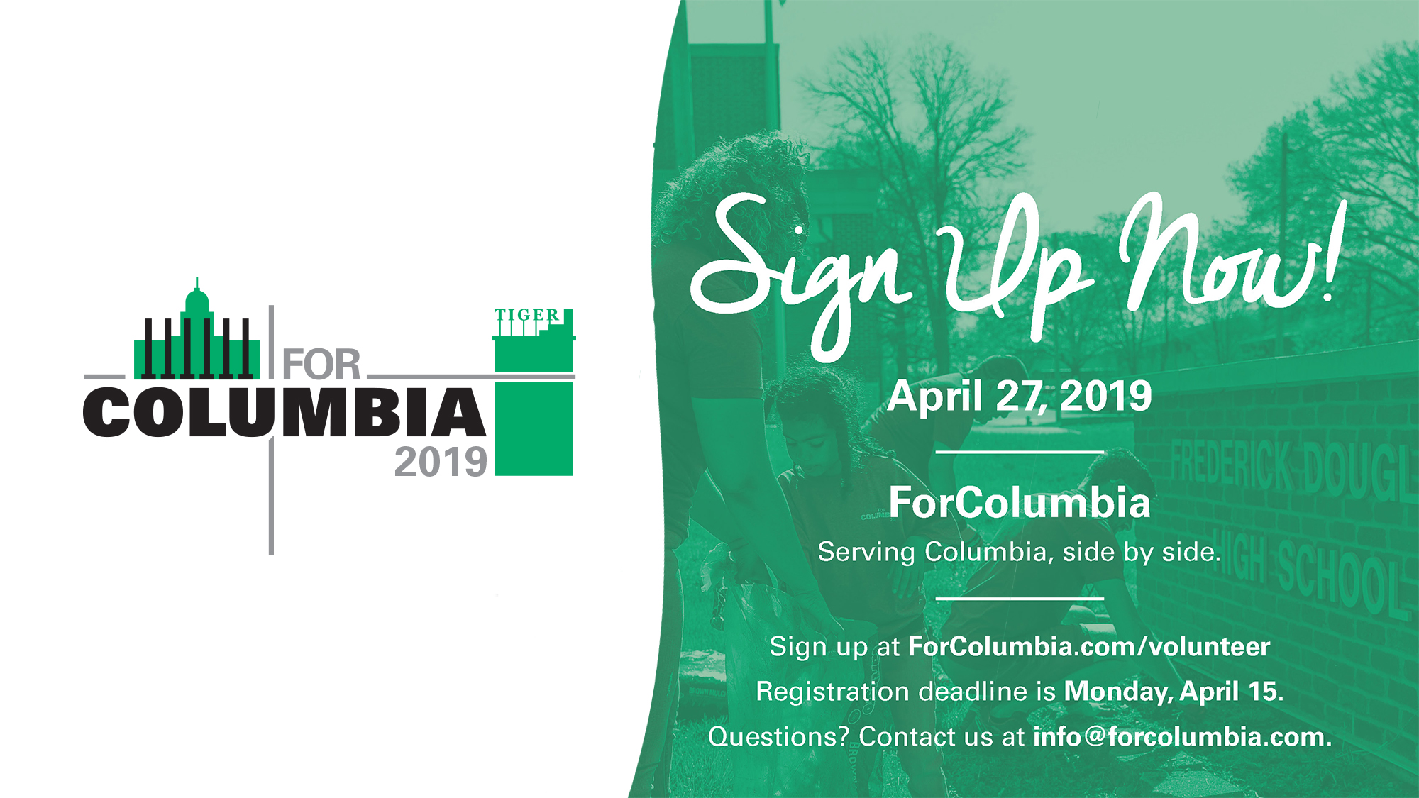 ForColumbia day of service April 2019