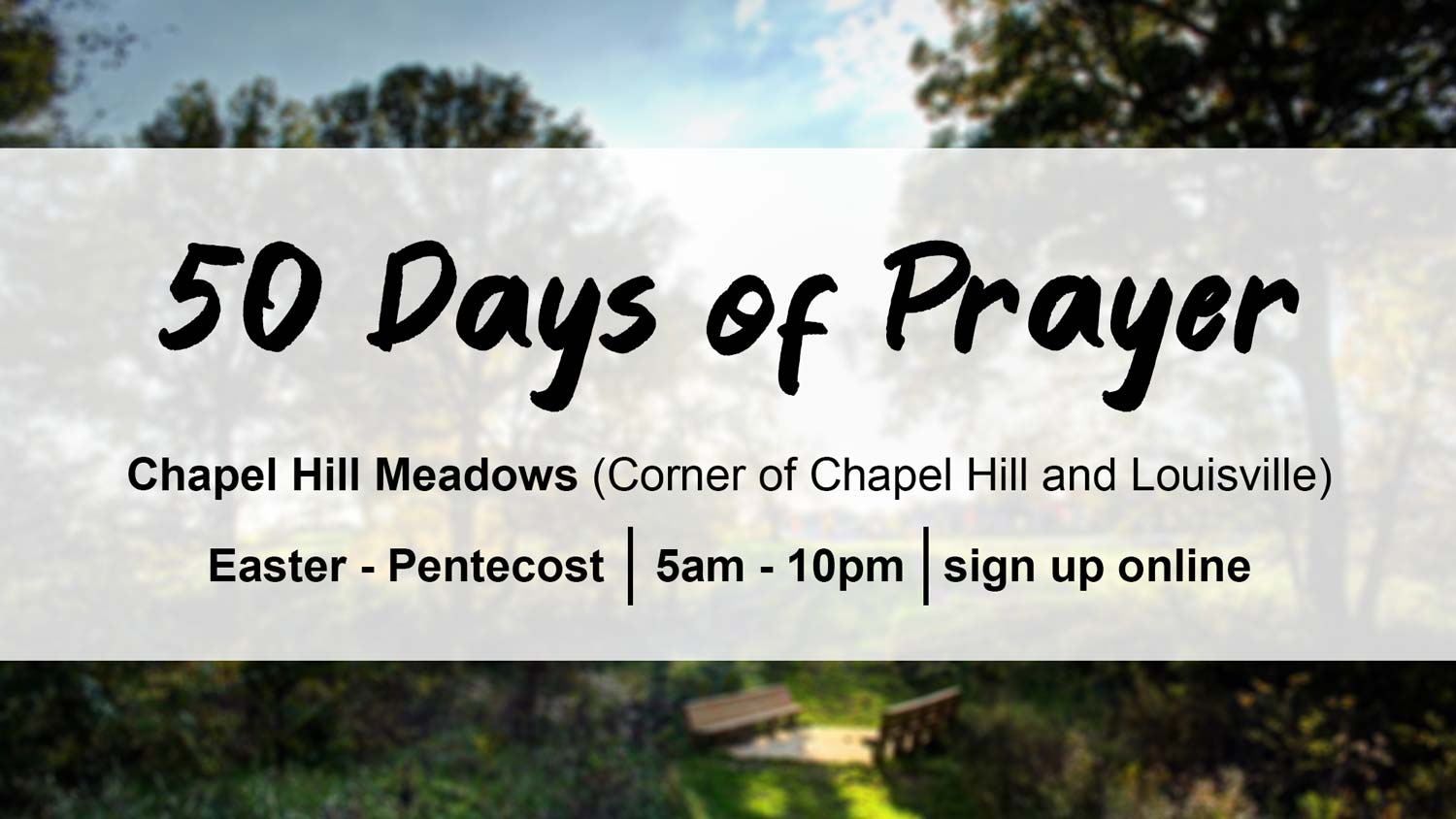 50 Days of Prayer from Easter to Pentecost