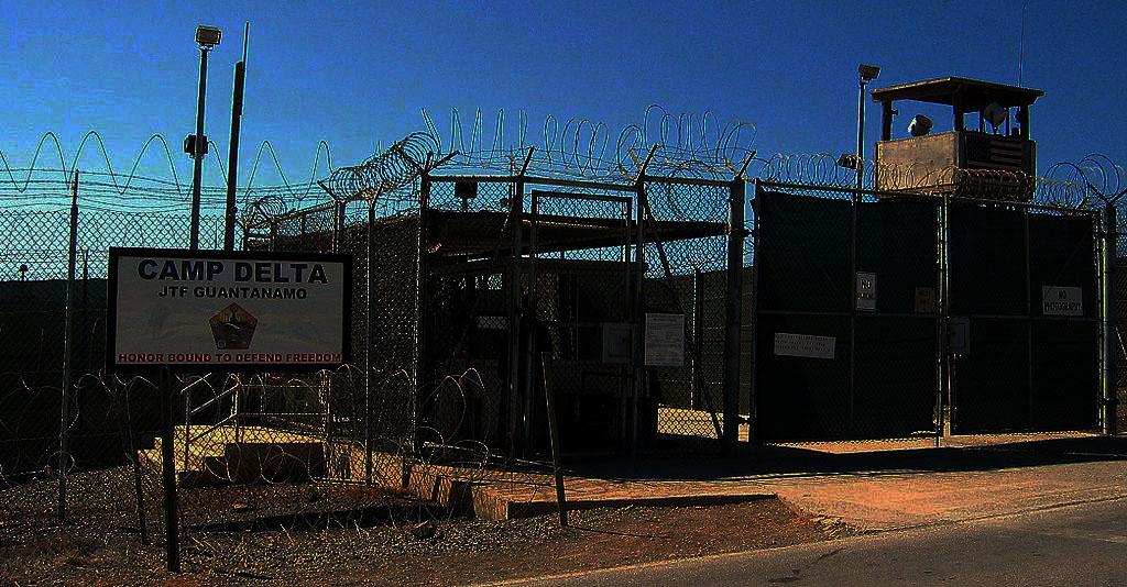 Photo of permiter fence of Camp Delta JTF Guantanamo