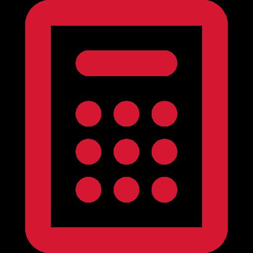 Icon of a red garage door opener