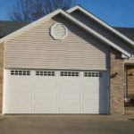 A beautiful residential garage door