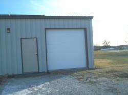 A beautiful white garage door