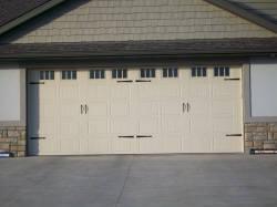 A beautiful residential garage door