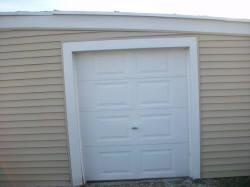 A small residential garage door