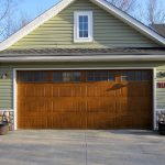 A beautiful, wooden garage door