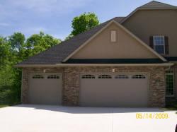 Two beautiful residential garage doors