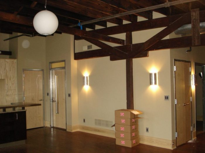 Interior of a commercial construction project