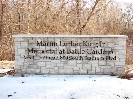 The MLK Jr. Memorial done by Huebert's construction team
