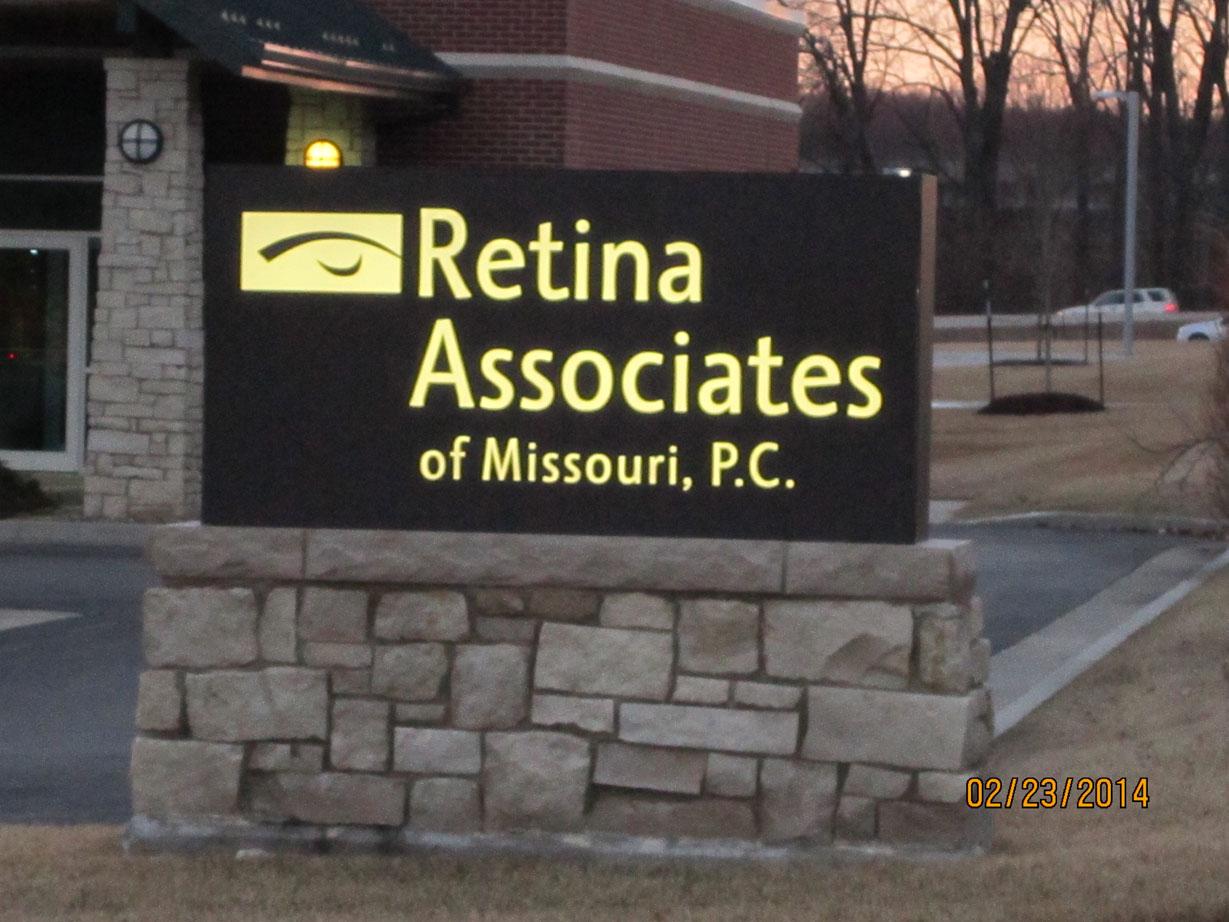Sign for Retina Associates of Missouri, P.C.