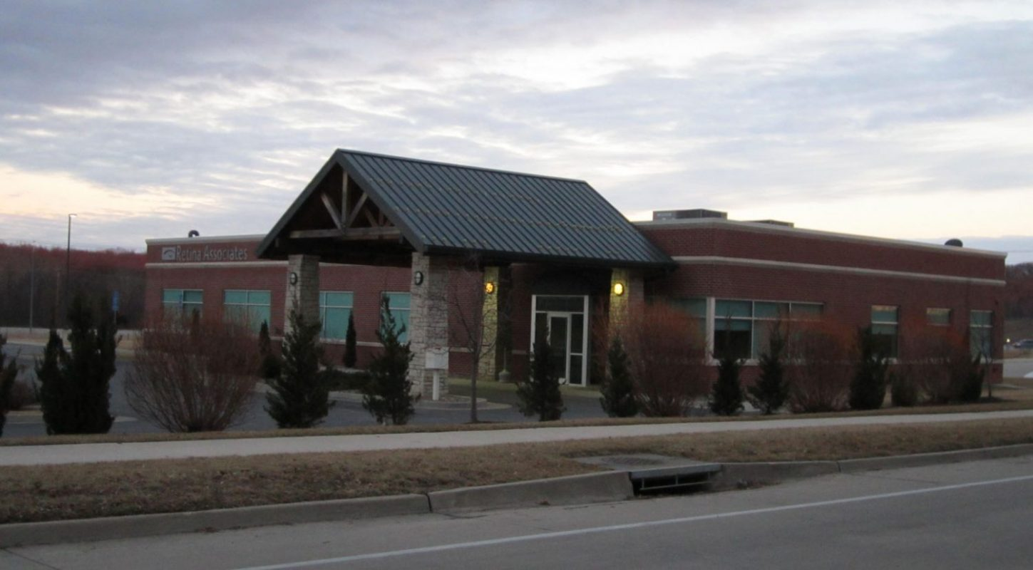 Outside of commercial construction project finished by Huebert Builders for Retina Associates