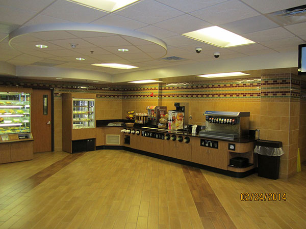 Huebert Builders has an expansive portfolio of commercial renovation, including MU Healthcare's cafeteria.