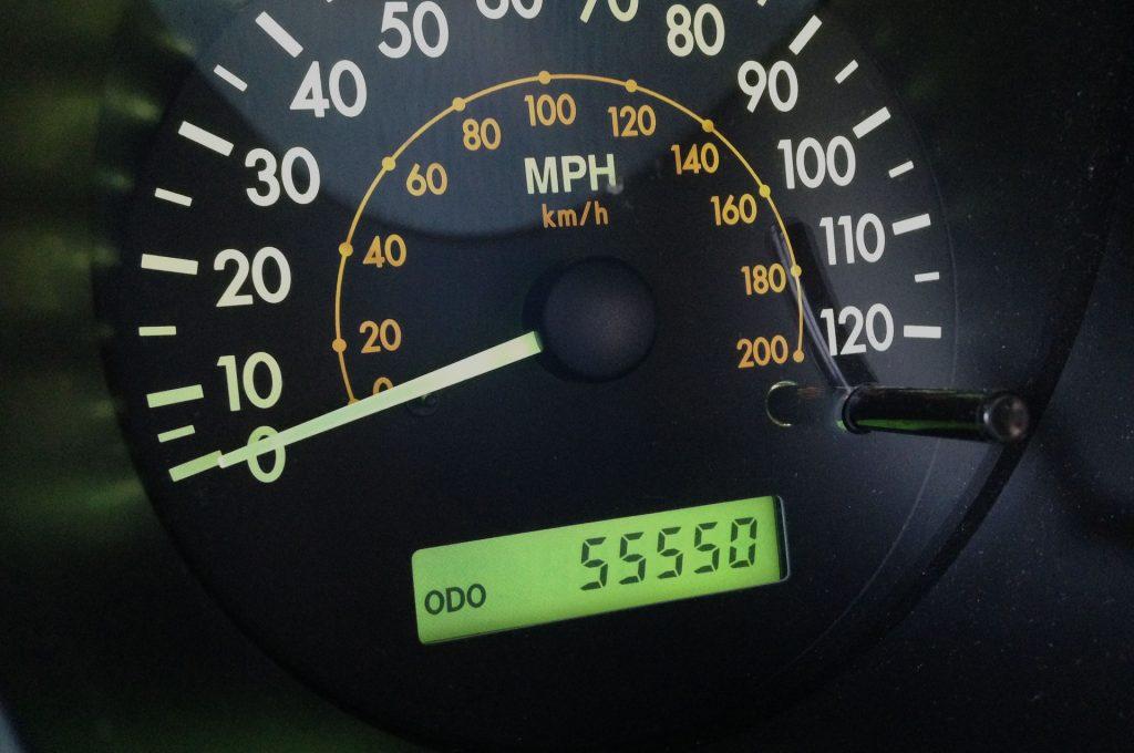 Odometer reading 55,550