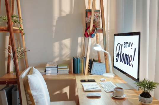 Creating a productive workspace at in your Columbia, Mo apartment will help you take online classes from home.