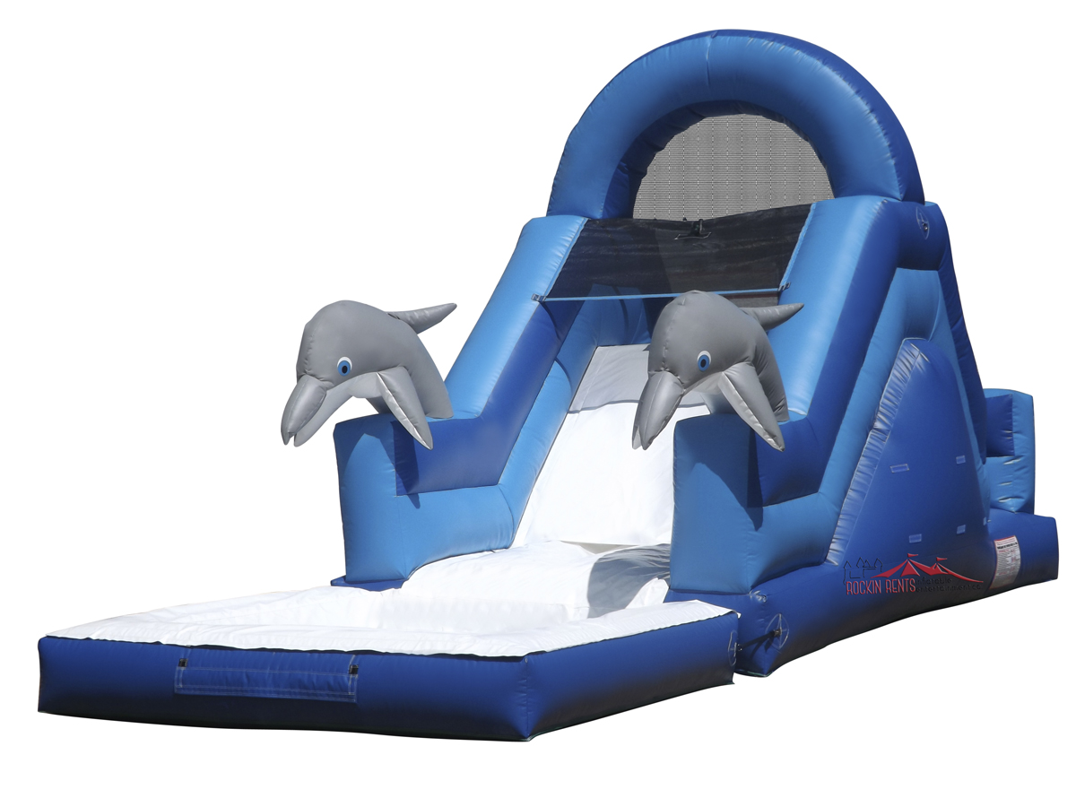 Rent the Dolphin Slide from Rockin Rents