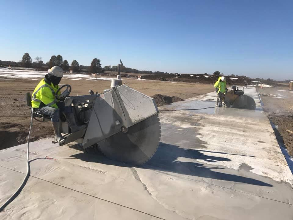 Allied sawing and services cutting concrete slabs