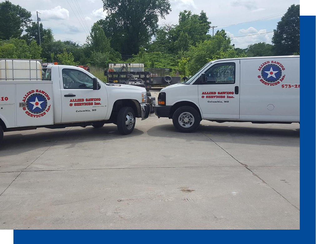 Allied Sawing and Services trucks