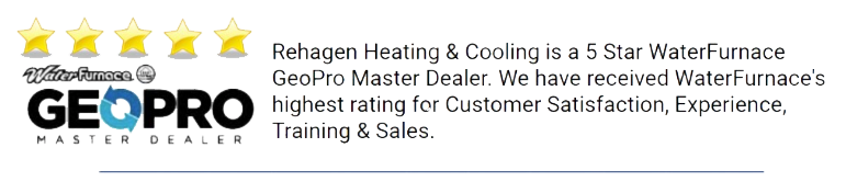 Rehagen Heating & Cooling has received WaterFurnace's highest rating for customer satisfaction in Jefferson City, Mo.