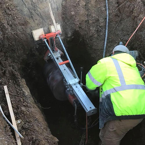 core drilling for plumbing pipe installation