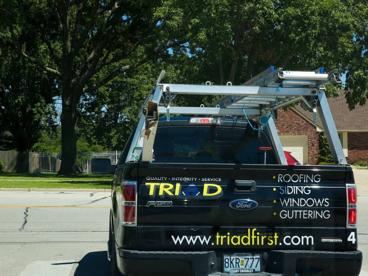 Triad Roofing Truck