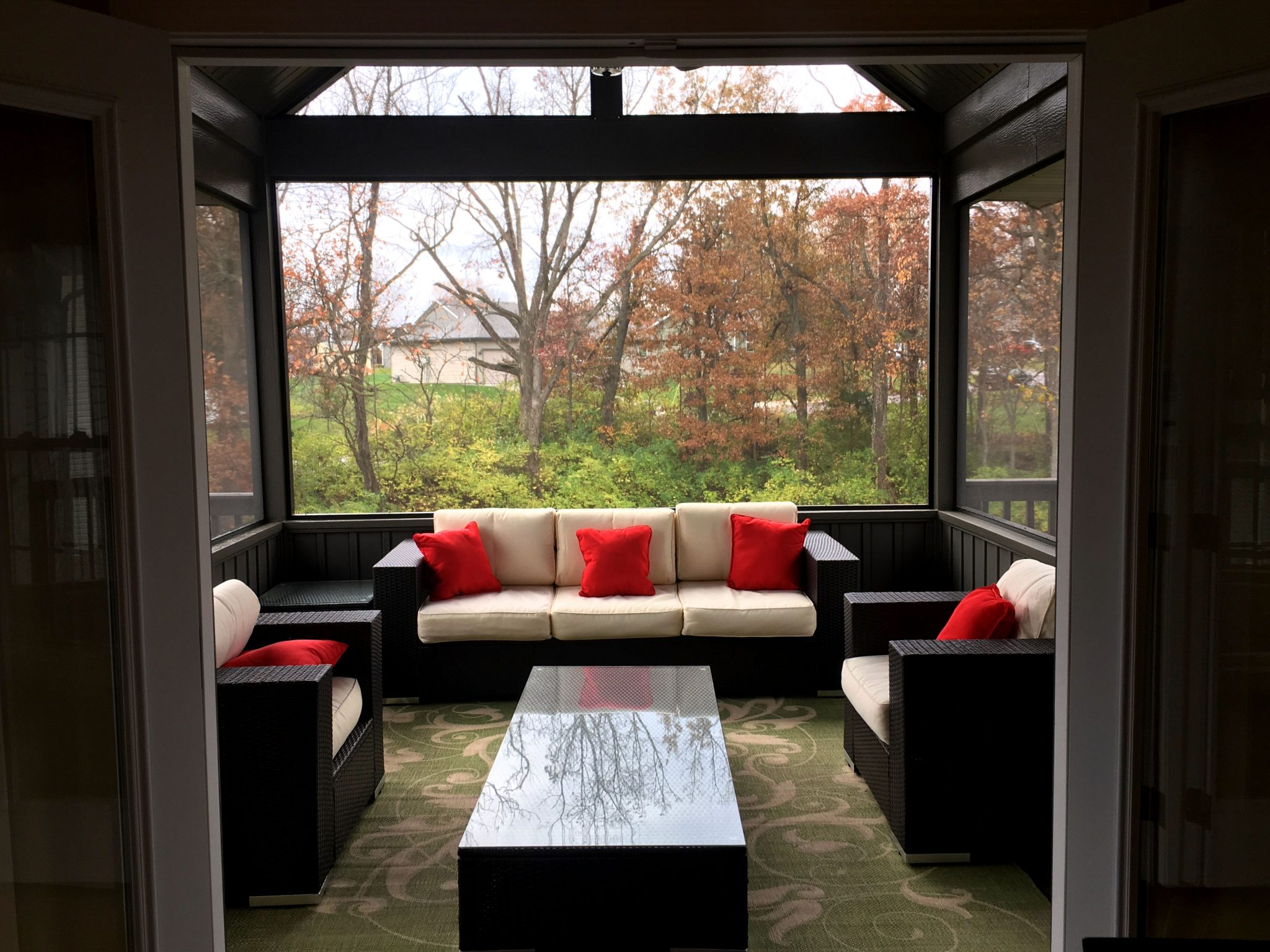 TrueSon Exteriors screened in porch/patio they built for a client
