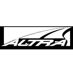 Altra brand symbol in white