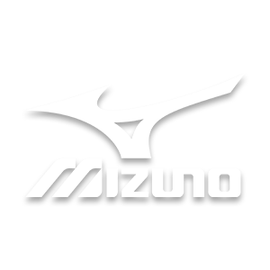 Mizuno brand logo in white