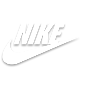 Nike logo in white