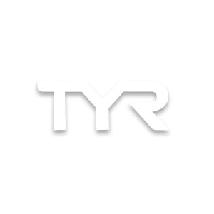 TYR swim brand logo in white