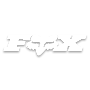 Fox brand logo image in white