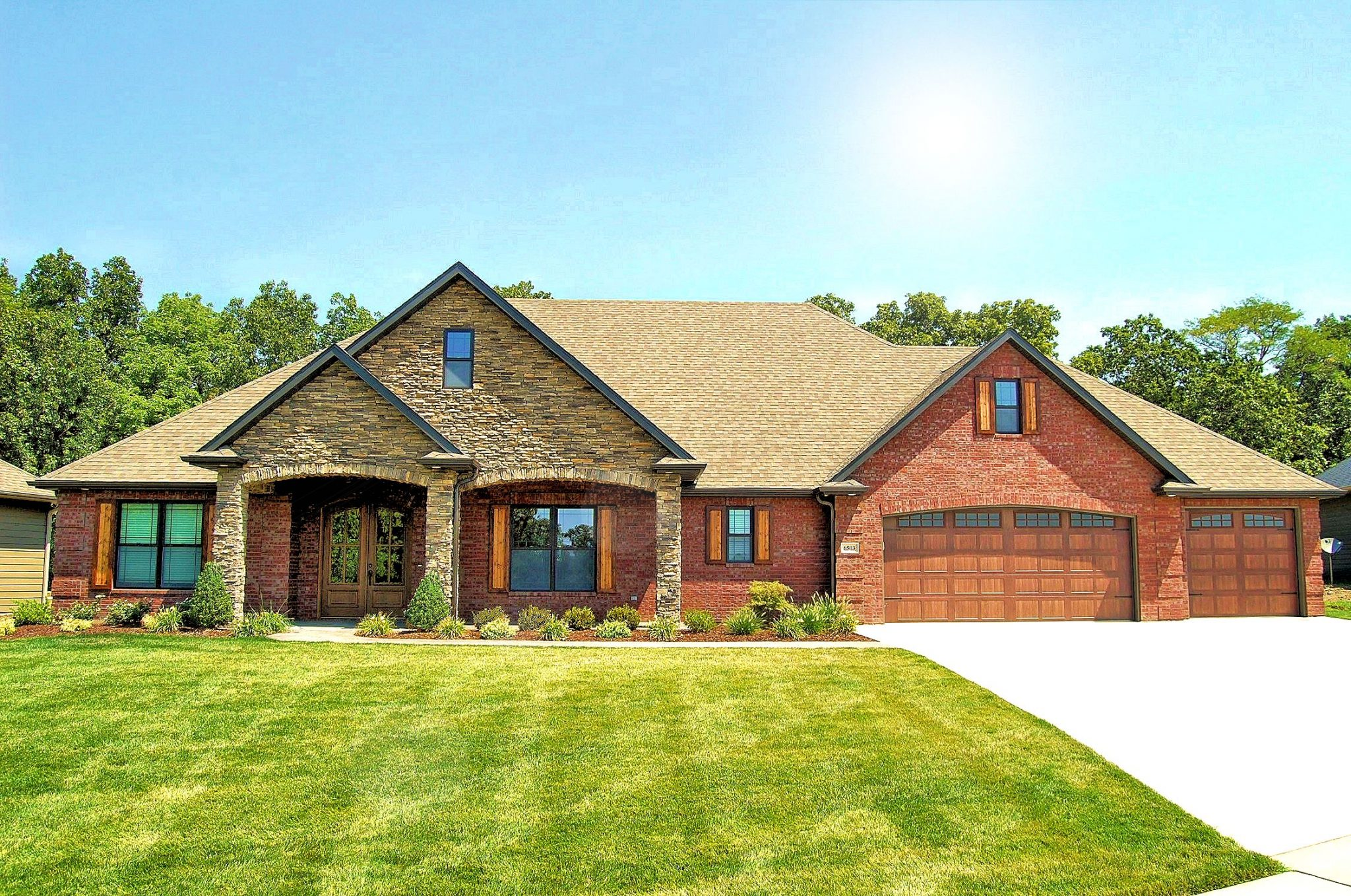 Custom Home with a Three Car Garage in Columbia, Mo