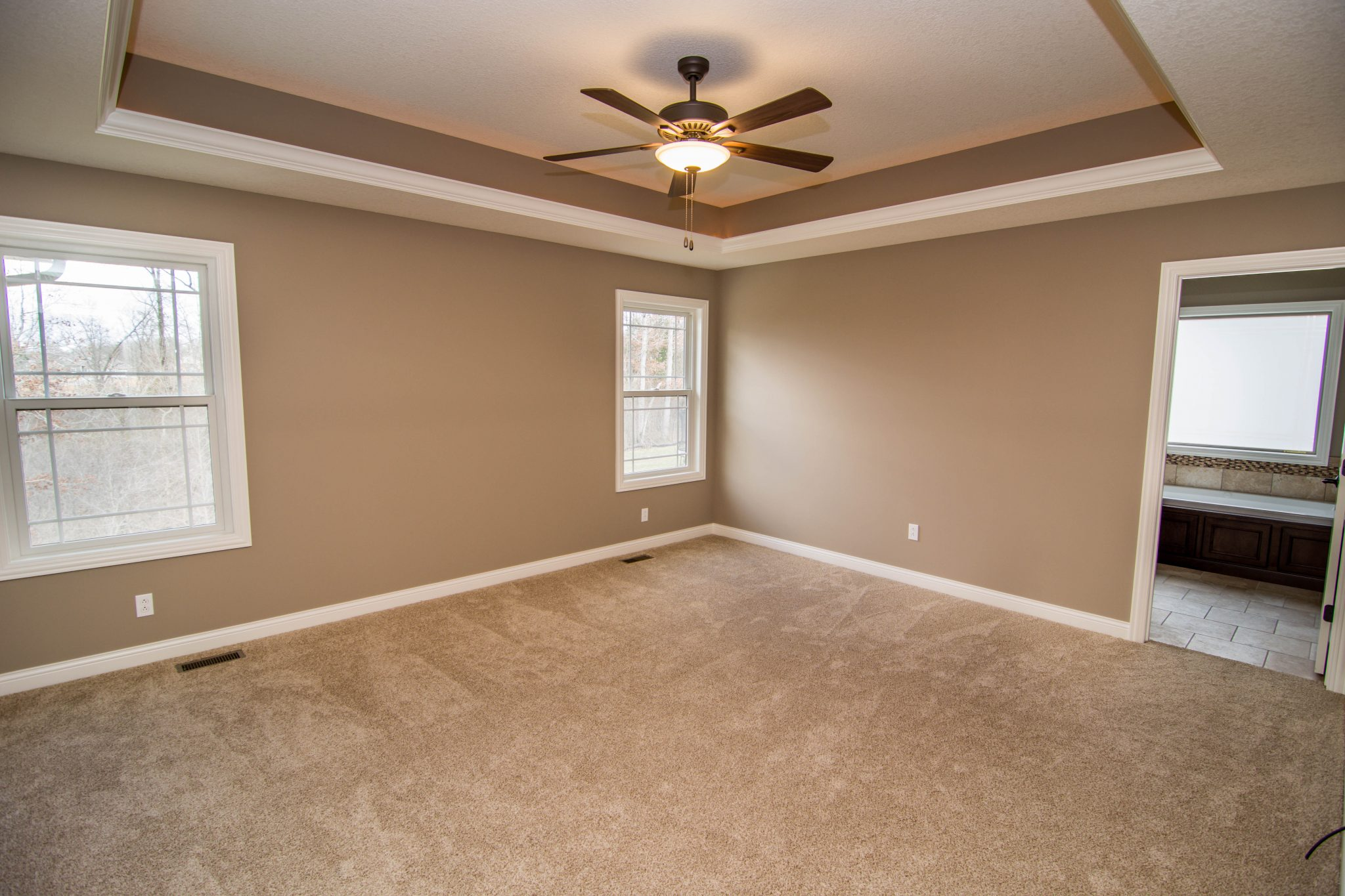 Master Suite in a Custom Home in Columbia, Mo