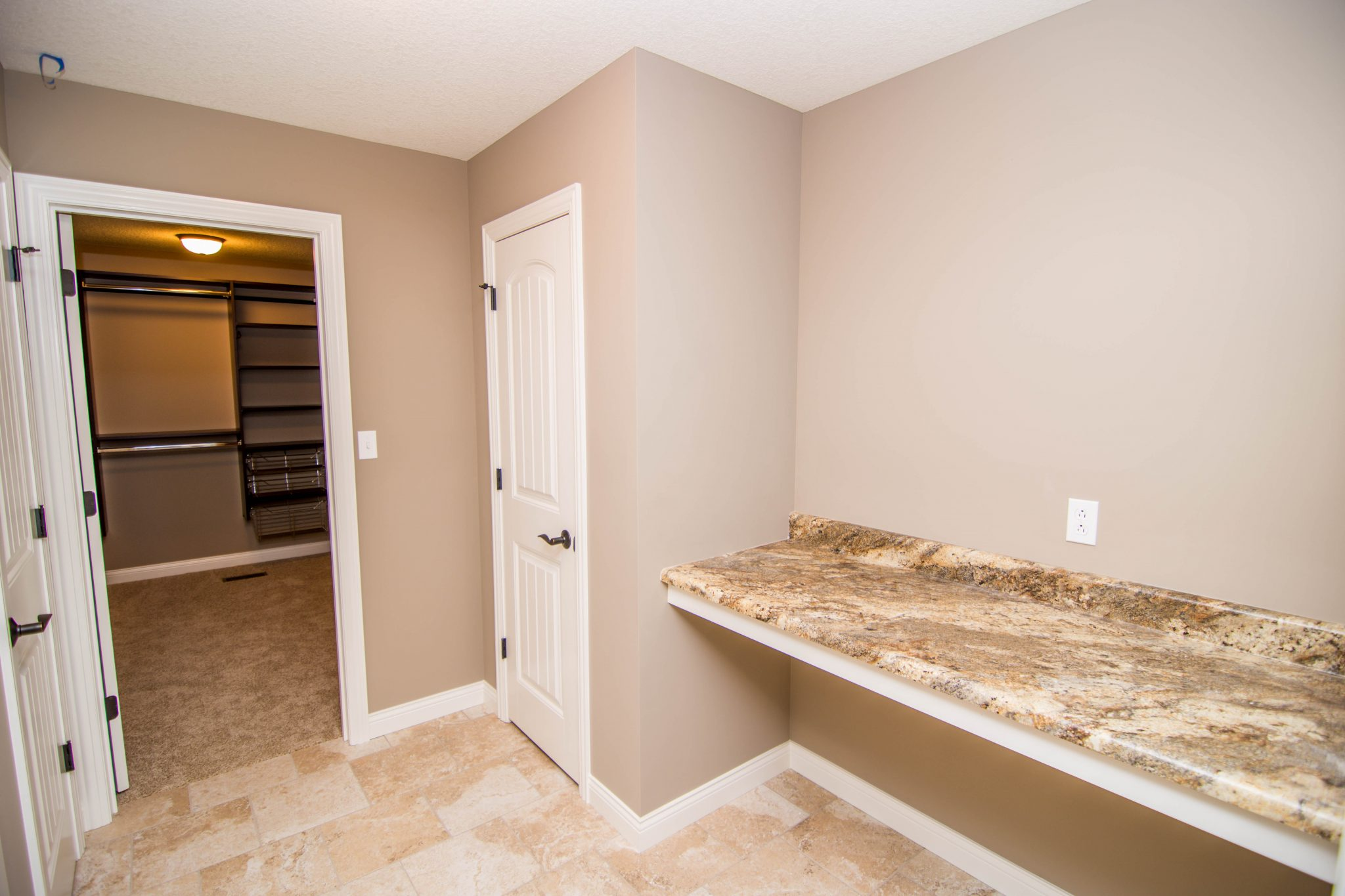 Laundry and Storage in a Custom Home in Columbia, MO