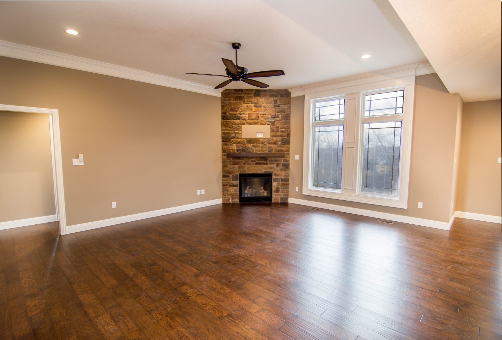 Living Room with Hardwood Floors in Columbia, MO