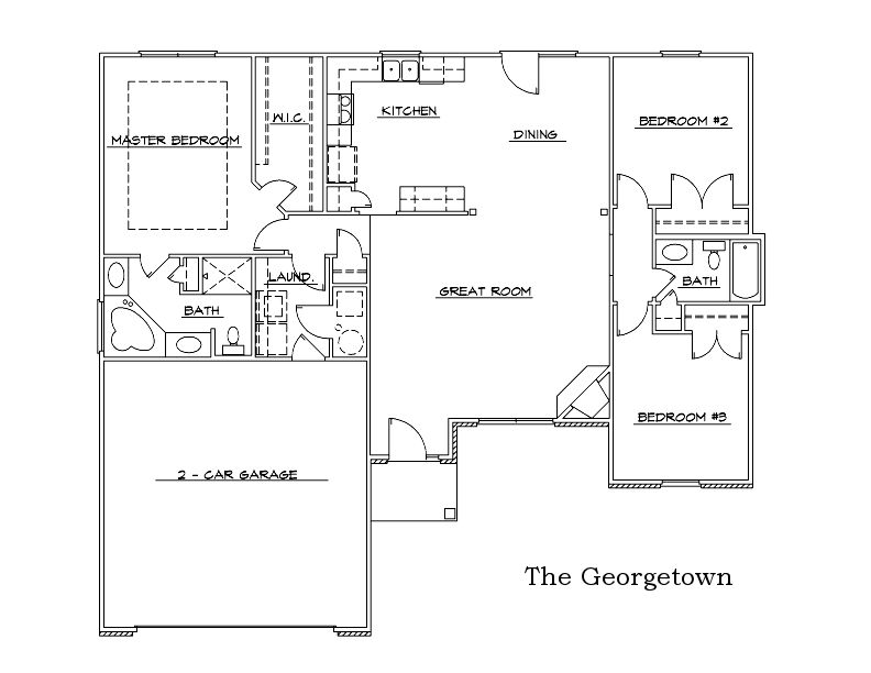 The Georgetown Custom Home Floor Plan in Columbia, Mo