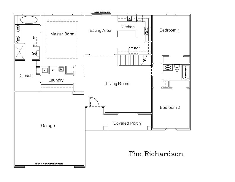 The Richardson Custom Home Floor Plan in Columbia, Mo