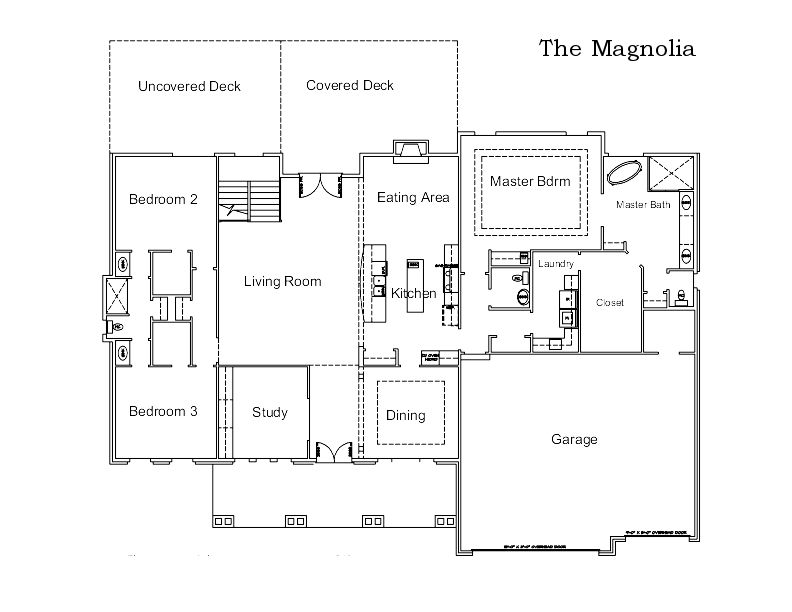 The Magnolia Custom Home Floor Plan in Columbia, Mo